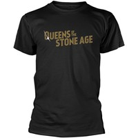 Queens Of The Stone Age: Text logo (metallic)