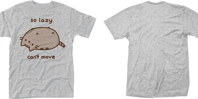 Pusheen: So lazy can't move