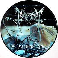 Mayhem : Grand Declaration Of War -picture disc-