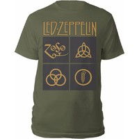 Led Zeppelin: Gold Symbols & Black Squares