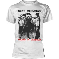 Dead Kennedys: Holiday in cambodia (white)
