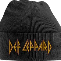 Def Leppard: Red/yellow logo (embroidered)