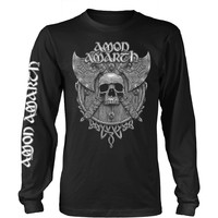 Amon Amarth: Grey skull (black)