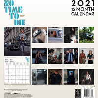 James Bond: James bond no time to die official 2021 calendar